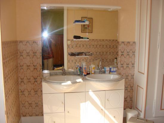 """la salle de bains  chambre  """"VERTE"""""""